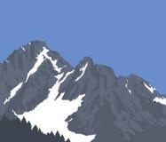καλυμμένο χιόνι βουνών διανυσματική απεικόνιση