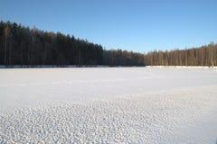 καλυμμένο χιόνι λιμνών Στοκ φωτογραφία με δικαίωμα ελεύθερης χρήσης