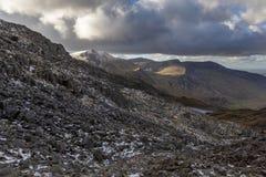 Καλυμμένο χιόνι Υ Garn, Snowdonia στοκ εικόνα με δικαίωμα ελεύθερης χρήσης