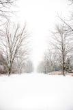 καλυμμένο χώρα οδικό χιόνι Στοκ εικόνες με δικαίωμα ελεύθερης χρήσης