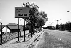 Καλωσορίστε σε Soweto στοκ φωτογραφία