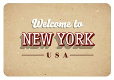 Καλωσορίστε στη Νέα Υόρκη - εκλεκτής ποιότητας ευχετήρια κάρτα απεικόνιση αποθεμάτων