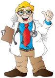 Καλός γιατρός ειδήσεων Στοκ εικόνα με δικαίωμα ελεύθερης χρήσης
