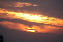 Καλό βόρειο Γιορκσάιρ ηλιοβασίλεμα Ηνωμένο Βασίλειο Στοκ φωτογραφία με δικαίωμα ελεύθερης χρήσης