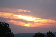 Καλό βόρειο Γιορκσάιρ ηλιοβασίλεμα Ηνωμένο Βασίλειο Στοκ εικόνες με δικαίωμα ελεύθερης χρήσης