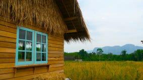 Καλό εξοχικό σπίτι στην άκρη του τομέα απόθεμα βίντεο