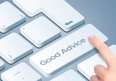 Καλό κλειδί πληκτρολογίων συμβουλών Ώθηση δάχτυλων το κουμπί στοκ φωτογραφίες