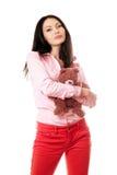 καλό πορτρέτο brunette Στοκ φωτογραφία με δικαίωμα ελεύθερης χρήσης