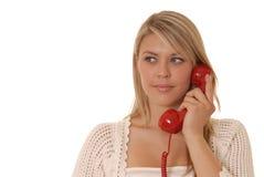 καλό τηλέφωνο κοριτσιών Στοκ Εικόνα