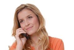 καλό τηλέφωνο κοριτσιών Στοκ εικόνες με δικαίωμα ελεύθερης χρήσης