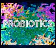 Καλό υπόβαθρο άνω και κάτω τελειών χλωρίδας βακτηριδίων Probiotic, prebiotic, synbiotic, γαλακτοβάκιλλος, bifidobacterium Infogra στοκ φωτογραφίες με δικαίωμα ελεύθερης χρήσης