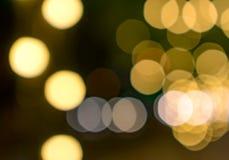 Καλό χρυσό υπόβαθρο Bokeh στο βράδυ Στοκ φωτογραφίες με δικαίωμα ελεύθερης χρήσης