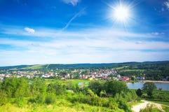 καλό χωριό κοιλάδων Στοκ Εικόνες