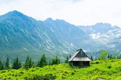 Καλύβα στα βουνά Εθνικό πάρκο στην Πολωνία Στοκ Εικόνες