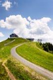 Καλύβα στο βουνό Wildenkarkogel στις Άλπεις, saalbach-Hinterglemm, Αυστρία Στοκ εικόνες με δικαίωμα ελεύθερης χρήσης