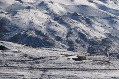 Καλύβα στο χιόνι, Λίβανος Στοκ φωτογραφία με δικαίωμα ελεύθερης χρήσης