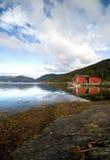 καλύβα s φιορδ ψαράδων φυσική Στοκ Εικόνα