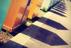 καλύβες παραλιών Στοκ Εικόνες