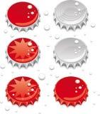 καλύμματα μπουκαλιών ελεύθερη απεικόνιση δικαιώματος