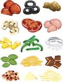 καλύμματα πιτσών Στοκ φωτογραφία με δικαίωμα ελεύθερης χρήσης