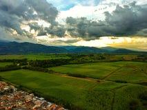 Καλύπτει wheter και το ηλιοβασίλεμα Κολομβία είναι magnifique στοκ φωτογραφίες