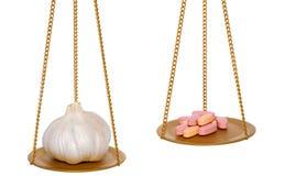 καλύτερα χάπια σκόρδου έπειτα Στοκ φωτογραφία με δικαίωμα ελεύθερης χρήσης