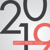 Καλύτερες ευχές - αναδρομική ευχετήρια κάρτα καλής χρονιάς ύφους ή υπόβαθρο, δημιουργικό πρότυπο σχεδίου - 2019 στοκ εικόνες