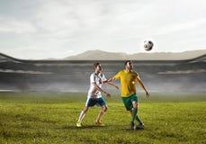 Καλύτερες στιγμές ποδοσφαίρου Μικτά μέσα Στοκ εικόνα με δικαίωμα ελεύθερης χρήσης