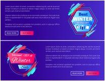 Καλύτερη διανυσματική απεικόνιση ιστοσελίδας χειμερινής πώλησης Στοκ Εικόνες