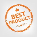 Καλύτερη σφραγίδα προϊόντων ελεύθερη απεικόνιση δικαιώματος