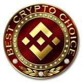 Καλύτερη Crypto επιλογή - BINANCE Διανυσματική απεικόνιση