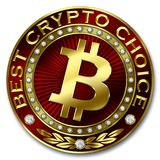 Καλύτερη Crypto επιλογή - BITCOIN Στοκ Εικόνες