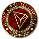 Καλύτερη Crypto επιλογή - TRON Διανυσματική απεικόνιση