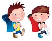 Καλύτεροι φιλαράκοι που πηγαίνουν στο σχολείο ελεύθερη απεικόνιση δικαιώματος