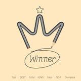 Καλύτερος νικητής από το μολύβι κορωνών Στοκ Εικόνες
