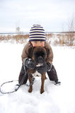 καλύτερος φίλος s αγοριών Στοκ εικόνα με δικαίωμα ελεύθερης χρήσης
