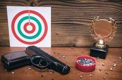Καλύτερο βραβείο σκοπευτών Νικητής στο πυροβολισμό Στοκ Εικόνες