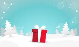 Καλύτερο διάνυσμα υποβάθρου δώρων Χριστουγέννων διανυσματική απεικόνιση