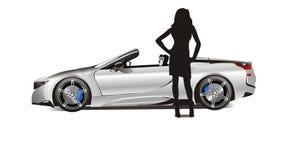 Καλύτερο σπορ αυτοκίνητο 2018 ατόμων - στην πώληση διανυσματική απεικόνιση