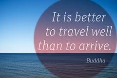 Καλύτερο ταξίδι Βούδας Στοκ εικόνα με δικαίωμα ελεύθερης χρήσης