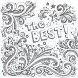 καλύτερο διάνυσμα ύφους σχολικών σκίτσων doodle Στοκ Εικόνες