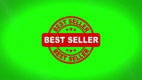 Καλύτερων πωλητών υπογεγραμμένη σφράγισης ζωτικότητα γραμματοσήμων κειμένων ξύλινη διανυσματική απεικόνιση