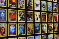 Καλύψεις περιοδικών του National Geographic στοκ εικόνες
