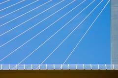καλώδια γεφυρών στοκ φωτογραφία