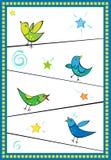 καλώδια πουλιών Στοκ εικόνες με δικαίωμα ελεύθερης χρήσης