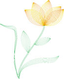καλώδιο πλαισίων λουλ&omic διανυσματική απεικόνιση