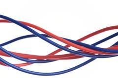 Καλώδιο που απομονώνεται ηλεκτρικό στο λευκό Στοκ φωτογραφία με δικαίωμα ελεύθερης χρήσης