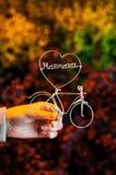 Καλώδιο σε μια μορφή του ποδηλάτου και της καρδιάς στοκ εικόνες