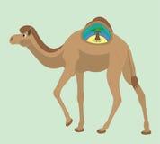 Καμήλα και το νησί σε ένα εξόγκωμα. Στοκ Φωτογραφία