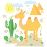 Καμήλα στο Σκανδιναβικό ύφος - διανυσματική απεικόνιση, eps ελεύθερη απεικόνιση δικαιώματος